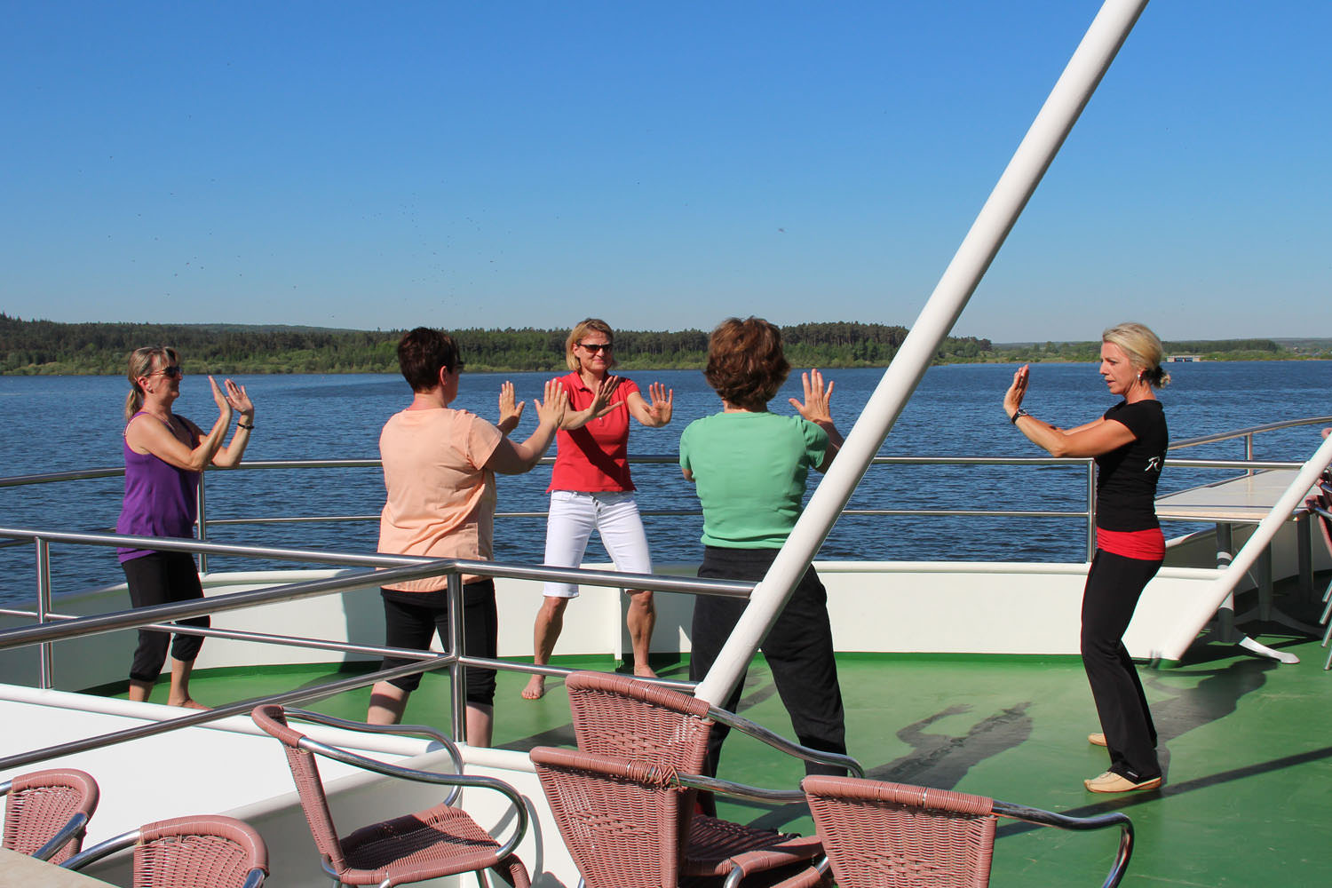 Qi Gong an Bord von MS Brombachsee